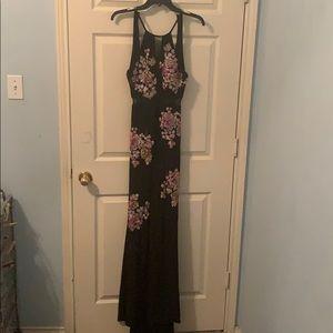 Xscape Formal Black Floral Dress
